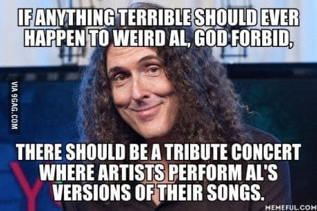 Weird Al Tribute Concert Where People Sing His Versions of Their Songs