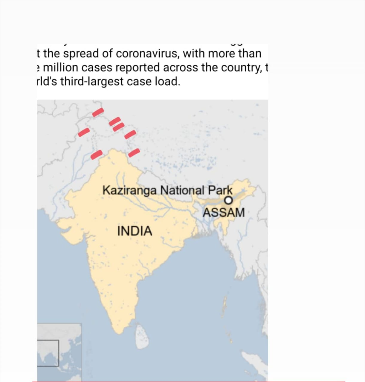 distortion of the Indian map by the BBC